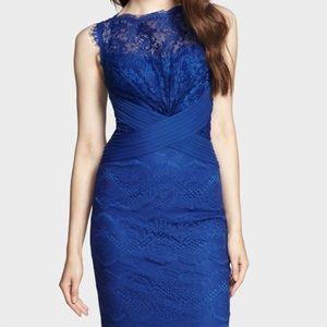 TADASHI SHOJI Chantilly Lace Sheath Cocktail Dress